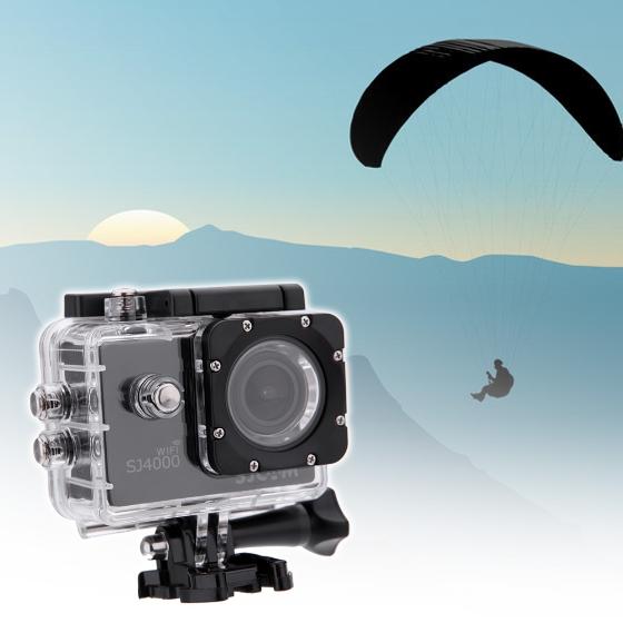 """SJ4000 WiFi 1080p Action-Kamera 1.5"""" Display, 170° mit Zubehör"""