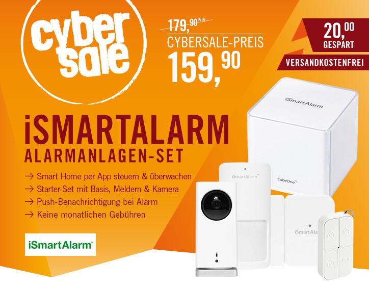 iSmartAlarm Funk-Alarmanlage Starterpaket mit CubeOne + HD Sicherheitskamera für 159,90€