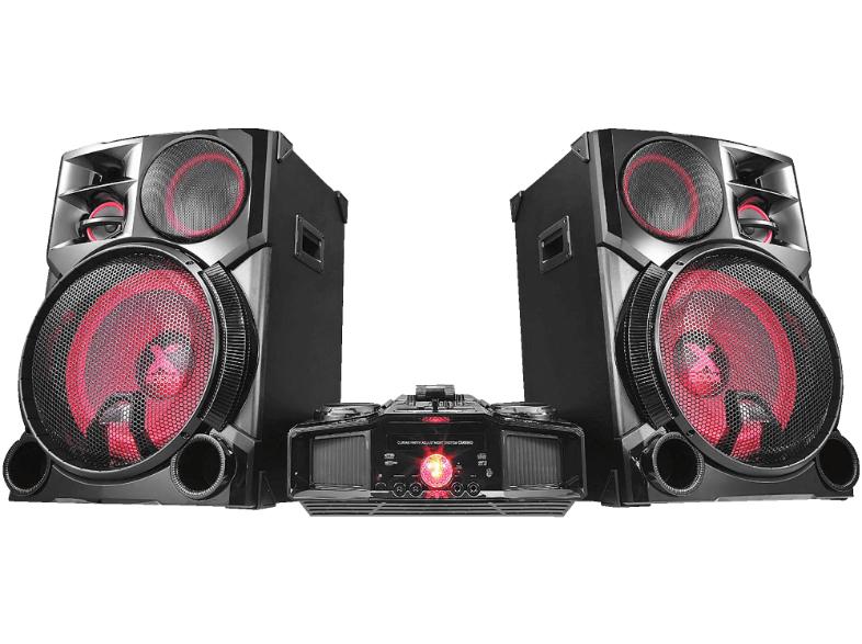 LG LOUDR CM9960 4800 Watt DJ-Power schwarz/rot