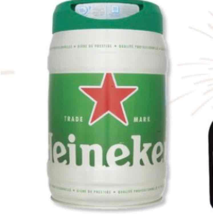 [ lokal Grenzgänger Super U Elsass] Heineken 5 Liter Fass Draught Keg mit Zapfhahn