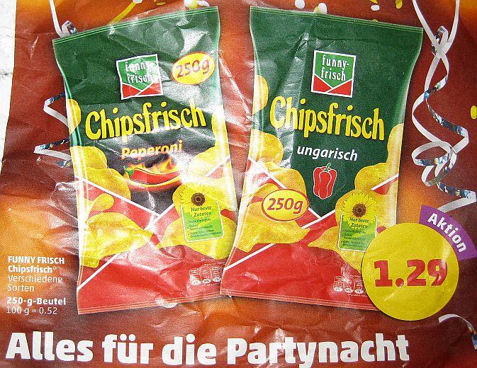 [Lokal Hamburg Penny] Chipsfrisch Ungarisch & Peperoni 250g 1,29€ (0,52€ /100g) ab 28.12.16