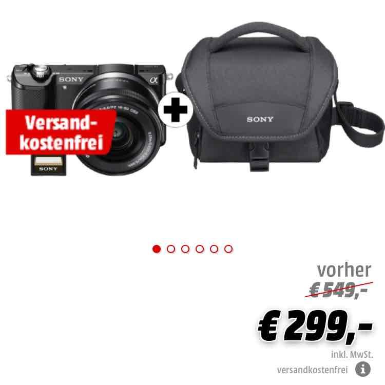 [Mediamarkt Online] Sony Alpha 5000 Kit inklusive Objektiv, Tasche, und SD-Karte, VSK-Frei