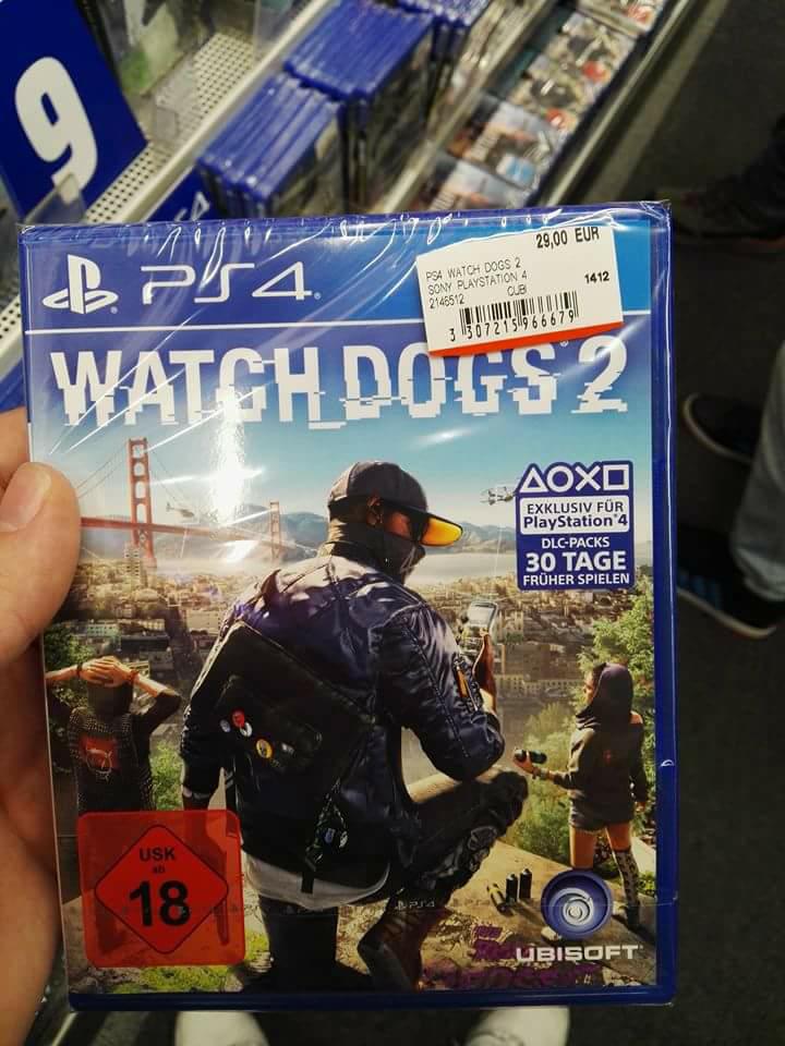 Mediamarkt Metrostraße Watch Dogs 2 PS4 29.00€