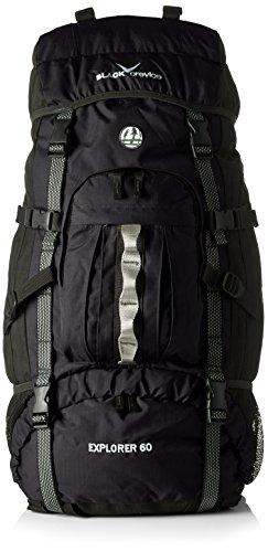 Crevice Rucksack Explorer, schwarz, 75 x 42 x 25 cm, 60 Liter, für 18,99€ inkl. Versand