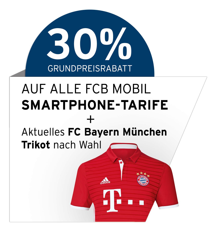 FCB Mobil S (1GB LTE) D1 Netz + Samsung Galaxy S7 für 31,47 € / Monat + 49,95 € Zuzahlung – 30%-Weihnachtsaktion mit FC-Bayern-Trikot gratis