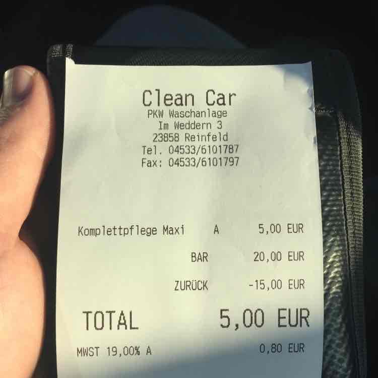 Alle Autowäschen 5€ Reinfeld direkt an der A1