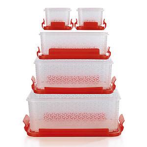 Frischhaltedosen Klick-it Kompakt 10-teilig in Rot