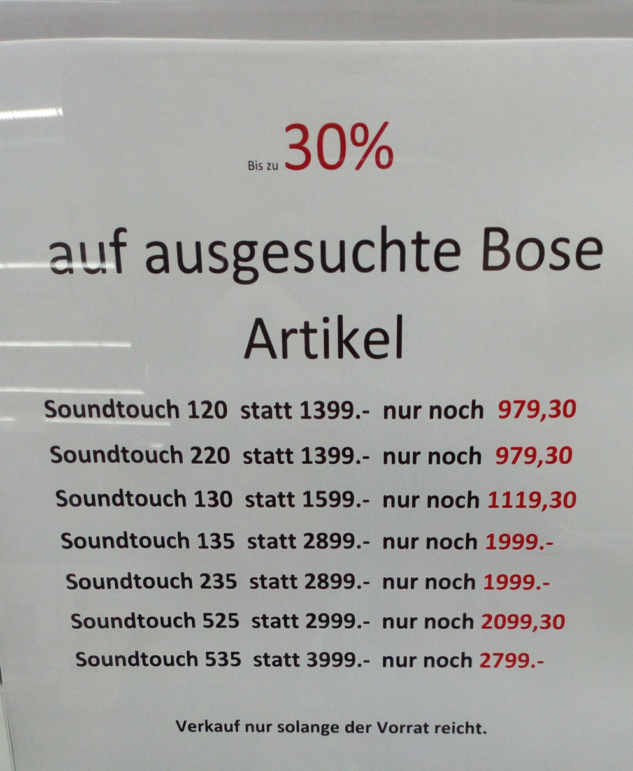 Expert Dinslaken verschiedene Bose Soundtouch bis zu 30%
