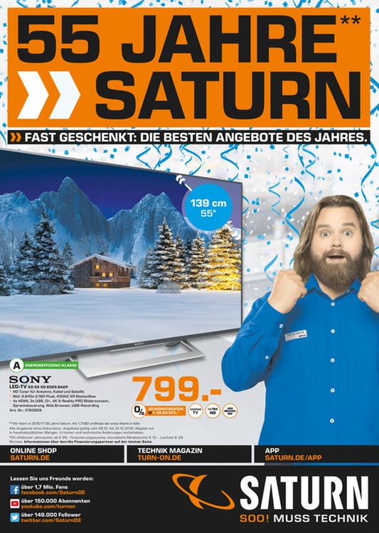 """SONY KD 55XD8005 BAEP 55"""" LCD TV für 799,00 EUR - sonst 949,- (Saturn Wiesbaden)"""