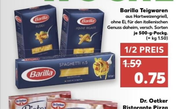 Kaufland ab 09.01.201 Barilla 500g versch. sorten