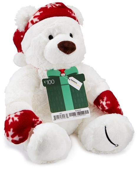 Gratis Teddybär bei Kauf eines 100€ amazon-Gutscheins für Prime-Mitglieder
