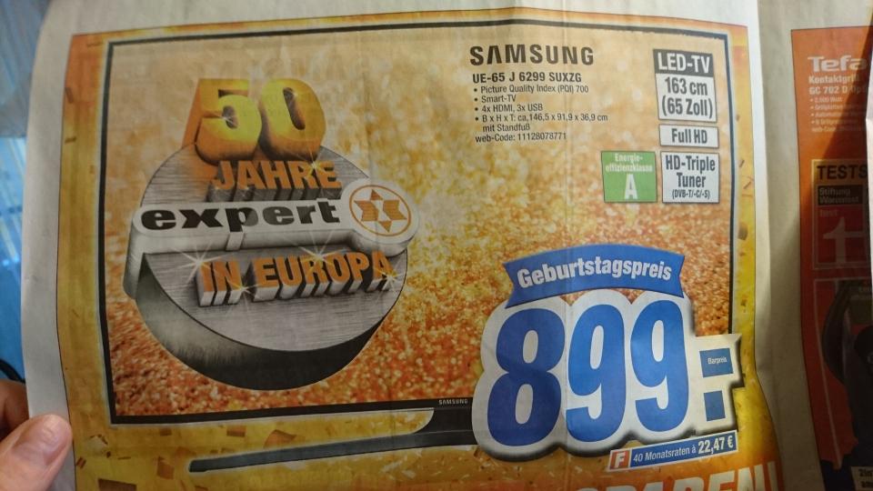 [expert-esc] LOKAL Samsung UE 65 J 6299 SUXZG