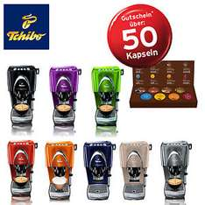 eBay WOW - TCHIBO Cafissimo CLASSIC + Gutschein für 50 Kapseln + 8 Kapseln