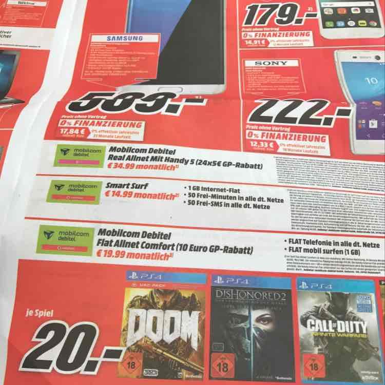 [MM Kulmbach] Call of Duty Infinite Warfare & Dishonored 2 PS4