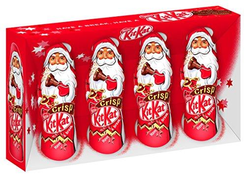 Amazon plusprodukt  : 16 x 4er Nestlé KitKat Mini Weihnachtsmänner, Milchschokolade (16 x 80g)