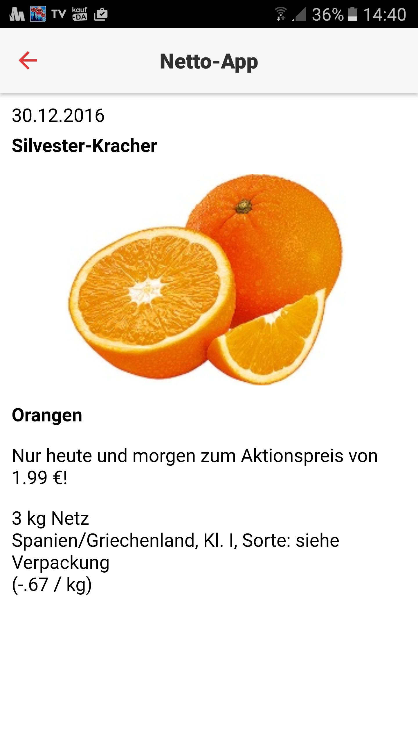 3kg-Netz Orangen für nur 1,99€ beim Netto (ohne Hund)