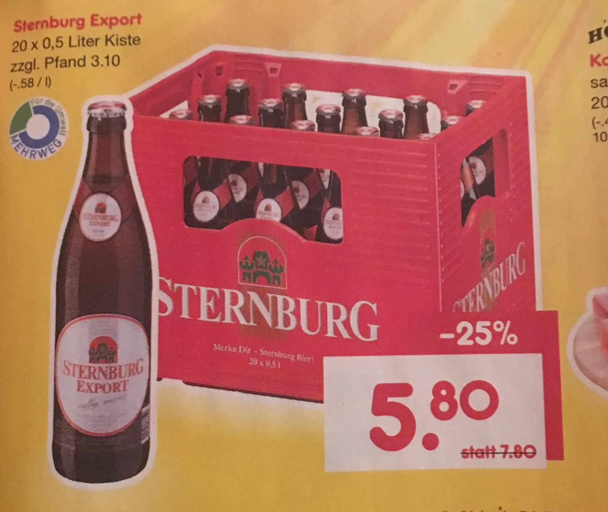 Merke dir: Sternburg Bier! Netto MD Samstagskracher 5,80€ (07.01) oder ganzwöchig Rewe für 6€