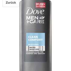 Amazon Prime im Sparabo Dove Men+Care Duschgel Clean Comfort, 6er Pack (6 x 250 ml) für 6,34 Euro