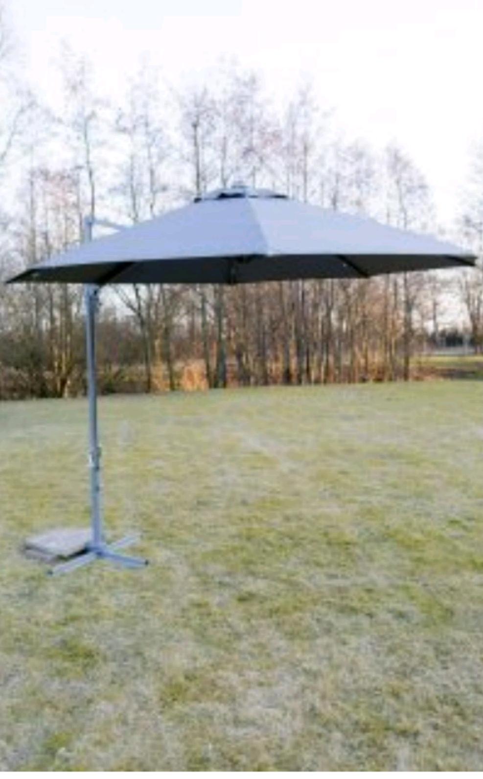 Amazon Ampel/Sonnenschirm Luna Rite Season, 3 m inklusive LED Lichter, 360 Grad drehbar
