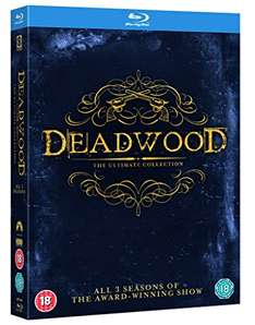 (amazon.co.uk) Deadwood – The Complete Collection dt. Ton [Blu-ray] 16,32 €
