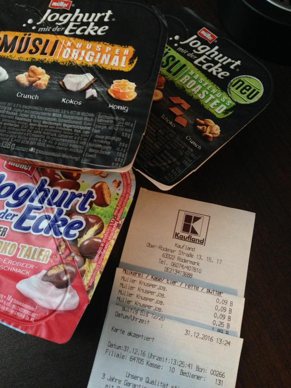 [Preisfehler] Müller Joghurt mit der Ecke verschiedene Sorten bei Kaufland