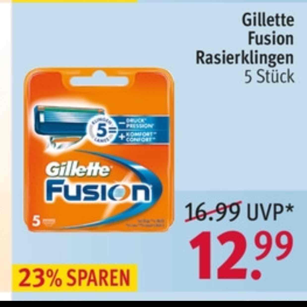 Rossmann Gillette Fusion 5er klingen