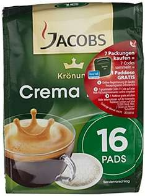 10 pack Kaffee Pads Jacobs Krönung Crema Klassisch 16 Pads, 10er Pack (10 x 105g)