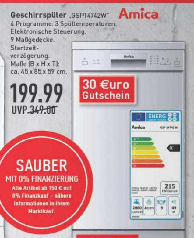 Schmale Spülmaschine für n schmalen Euro: Amica Spülmaschine 45cm