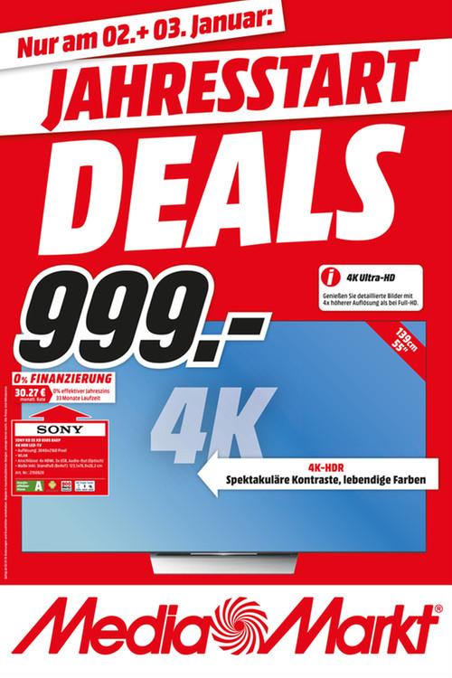 [MM Gütersloh] Sony KD 55XD8505 4K HDR Android LED TV für 999€ und  KDL 65W855 für 888€