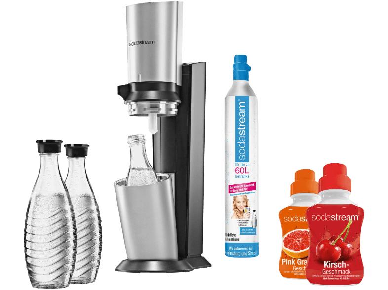 Soda Stream + 3 Karaffen + 1 Kohlensäurezylinder + 2 Sirupsorten für 99€