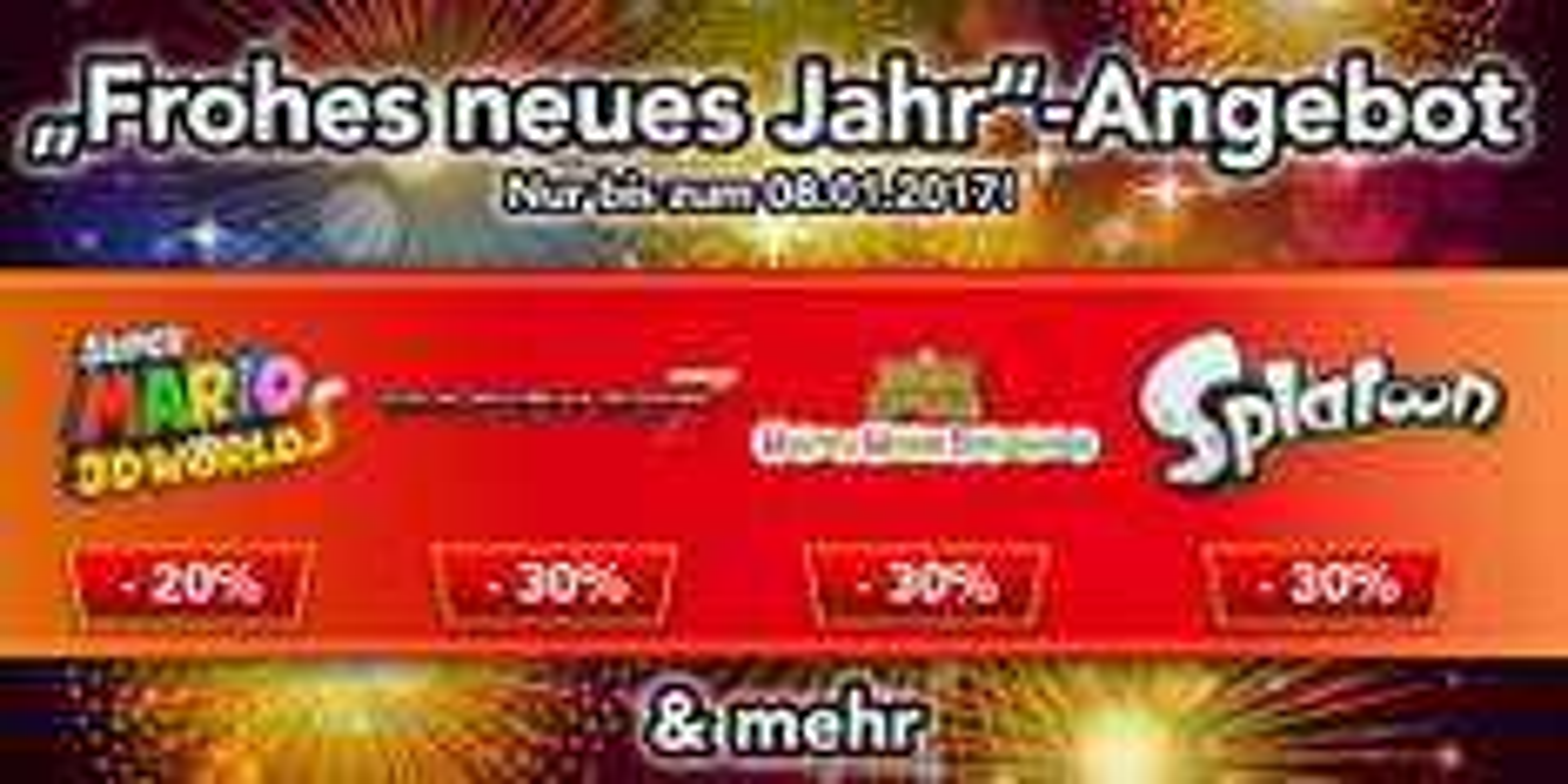 Nintendo eShop - viele 3DS, DS und Wii U Spiele im Angebot - zb: Mario Kart 7 für 31,49EUR