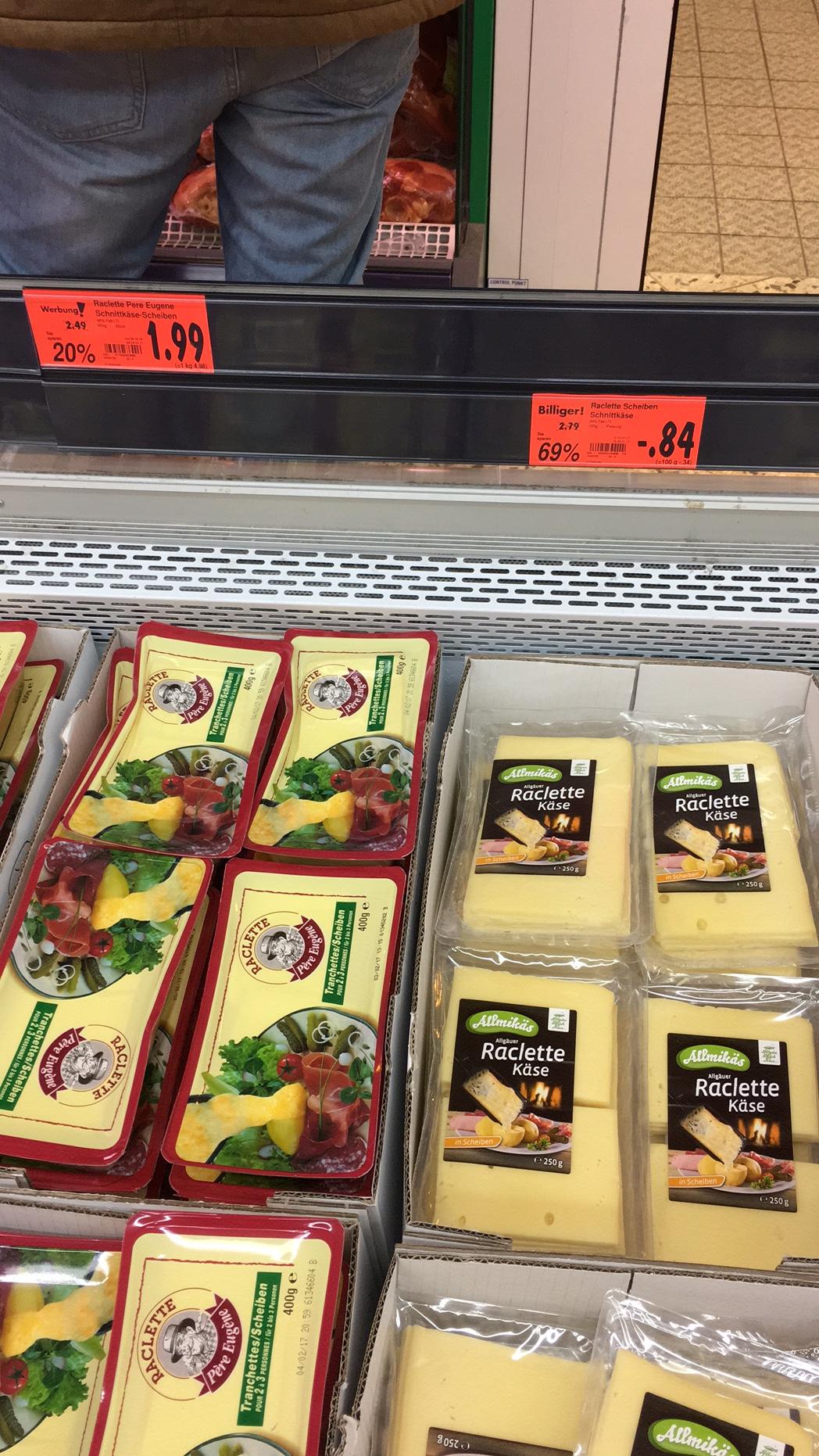 [Lokal Kaufland Konstanz] Raclette Käse 250gr.