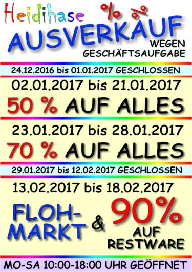 [lokal Memmingen] Abverkauf bei Heidihase 50%/70%/90%