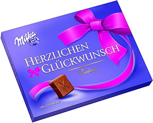 Amazon prime Milka Herzlichen Glückwunsch Milchcrème, 10er Pack (10 x 110 g)