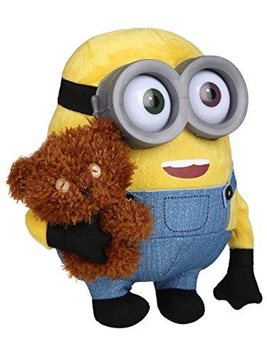 Minions Plüsch Bob mit Bär 22cm gelb für 11,55€ oder Stuart für 6,35€ mit Prime