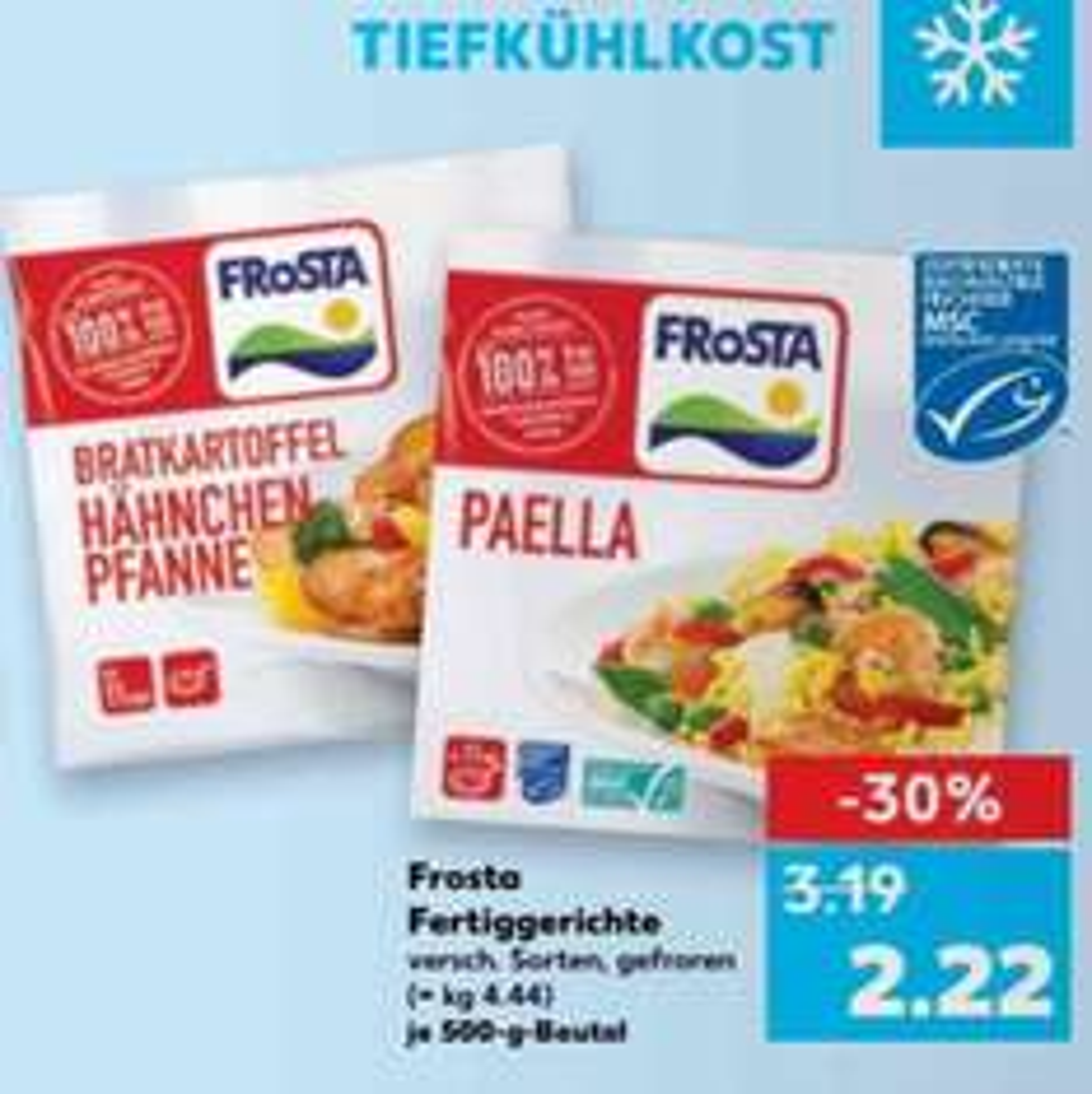 Frosta Kaufland bis 4.1. 2,22€