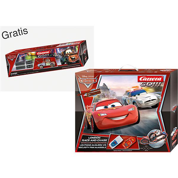 CARRERA GO!!! 62277 Disney Cars + GRATIS Ausbauset Disney Cars 2 @mytoys
