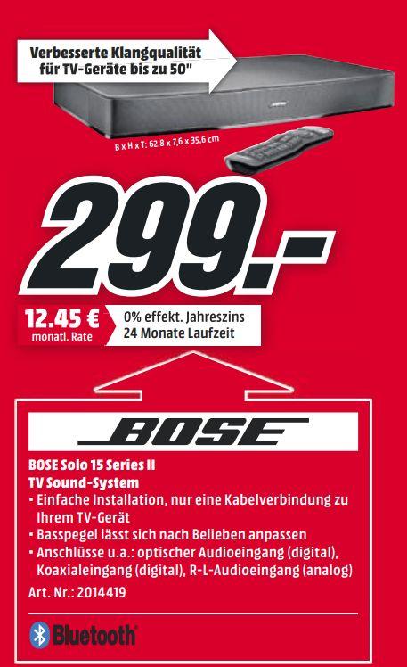 [Mediamarkt] Bose Solo 15 Series II TV Sound System schwarz für 299,-€ bei Abholung. **Angebot schon Online**