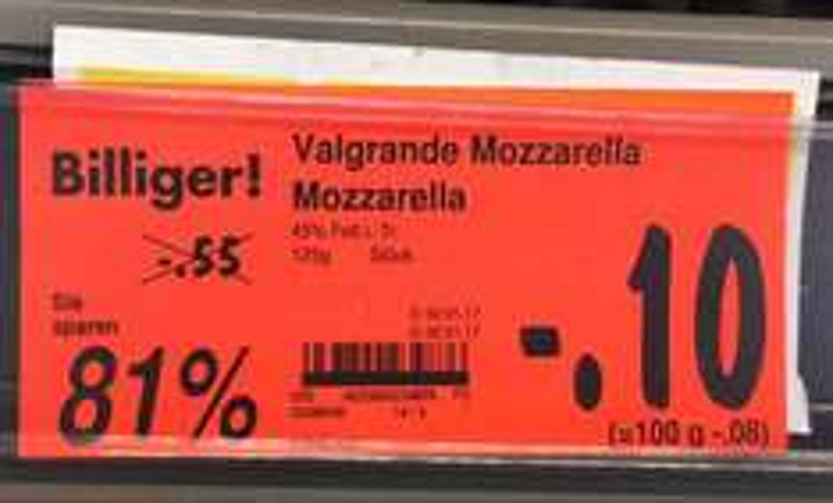 [Lokal] Dresden Kaufland-Striesen Mozarella -81%