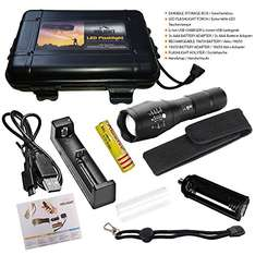 HIILIGHT LED Taschenlampe 2000 +USB-Ladegerät +Akku in Box für 32,24 € statt 54,99 € [Amazon.de] kostenloser Versand