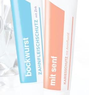 Total lustige kostenlose Paarsticker für Zahnpastatuben