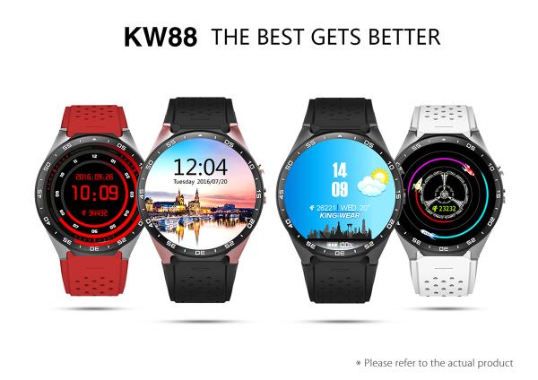 KingWear KW88 3G Smartwatch mit Android 5.1 für 75,67 €