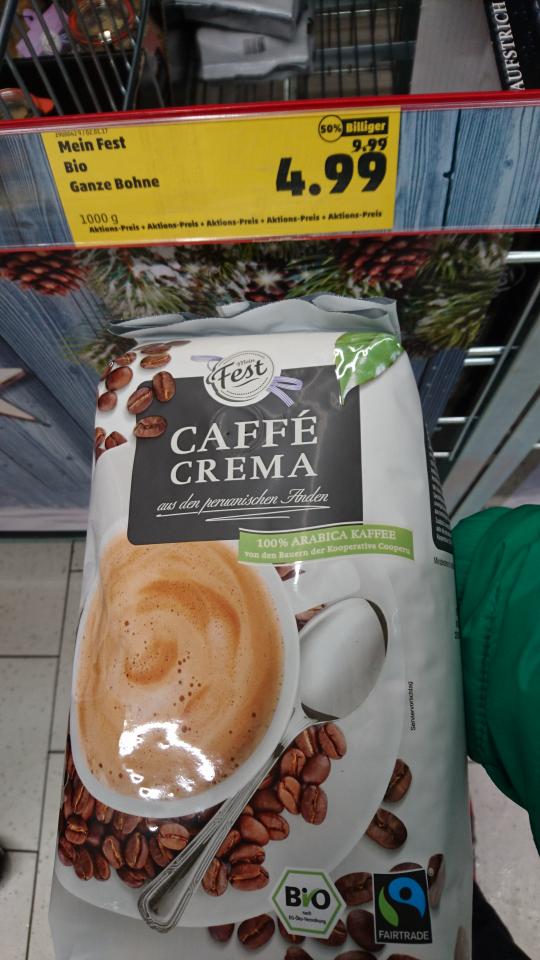 Penny Unterschleißheim - lokal, national? Mein Fest Caffè Crema 1000g