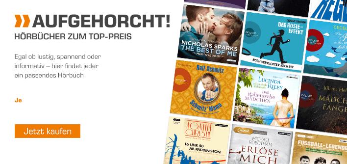 Verschiedene Hörbücher für je 2,99 € - versandkostenfrei [Saturn.de]
