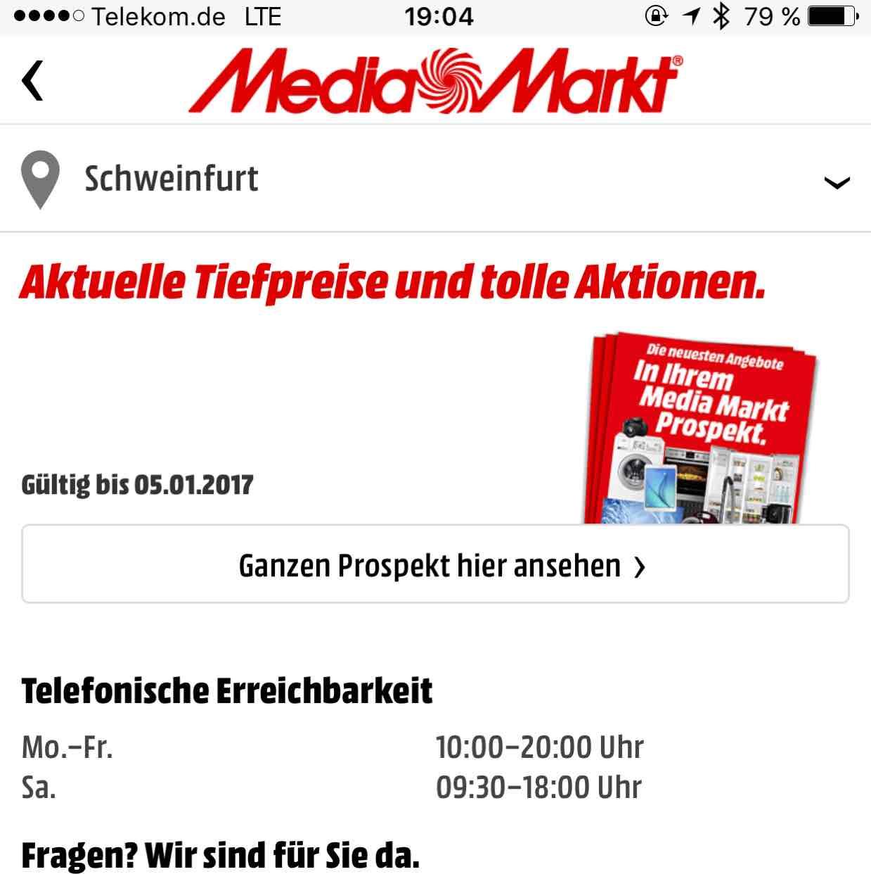 Media Markt schweinfurt // Sony 55xd8505 990€ + 100€ Coupon