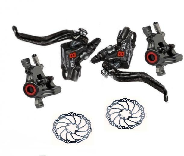 Scheibenbremsset Magura MT8 VR/HR inklusive 180er/160er Bremsscheiben