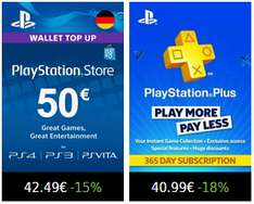 12 Monate PlayStation Plus für 40,99€ / 50€ Guthaben für 42,49€ auf Press-Start