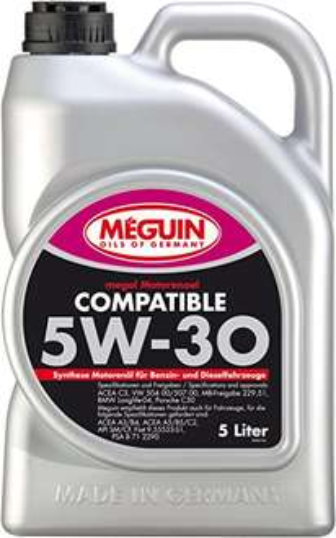 5l MEGUIN Megol Compatible 6562 Motoröl 5W-30 VW 504 00 507 00 Longlife BMW LL04 MB 229.51 [Amazon] [Prime]