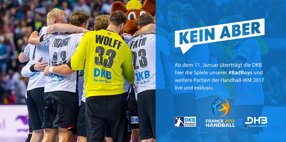 DKB überträgt live die Handball WM 2017