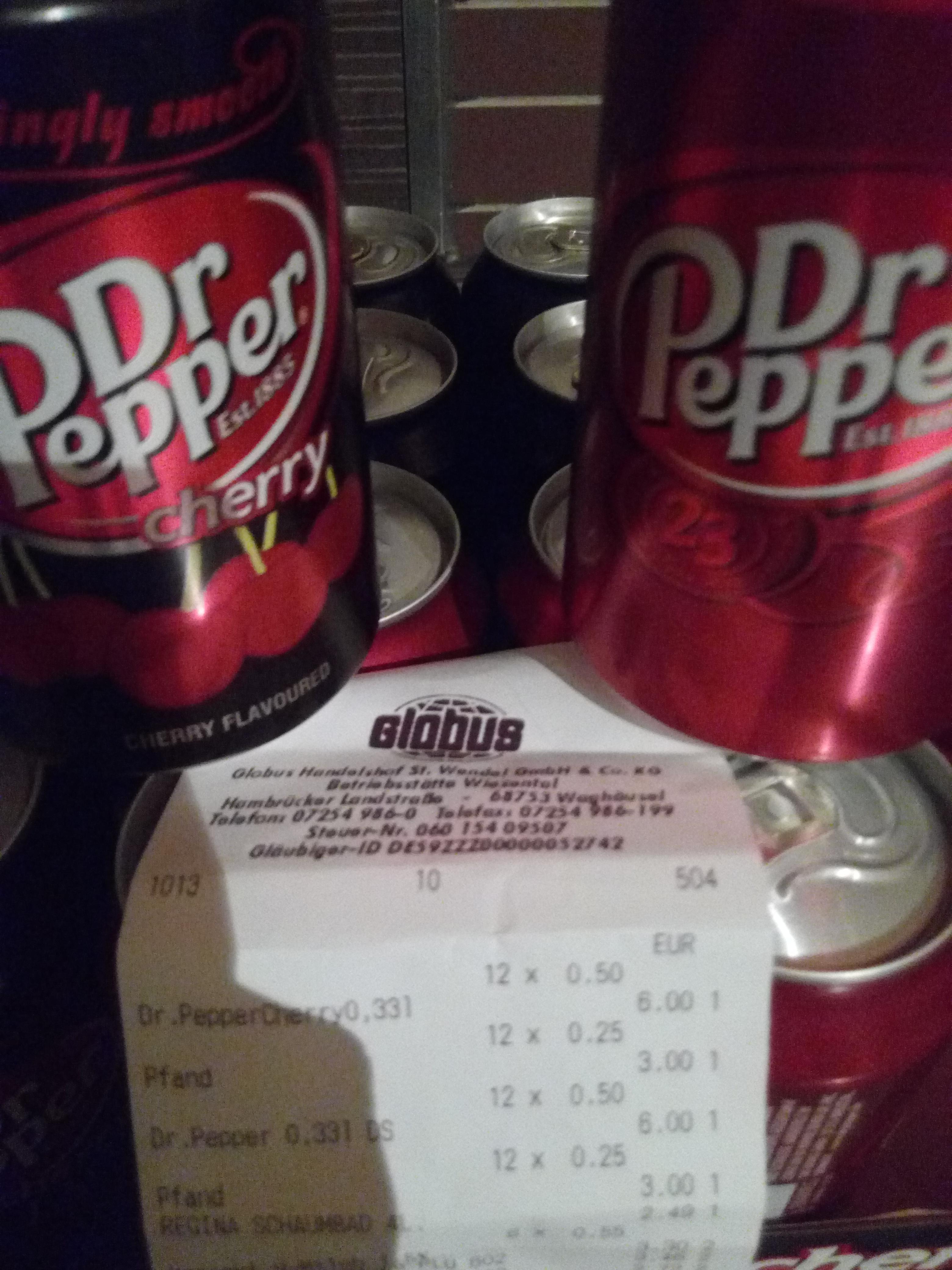 [Globus Lokal / Wiesental] Dr Pepper  & Dr Pepper Cherry